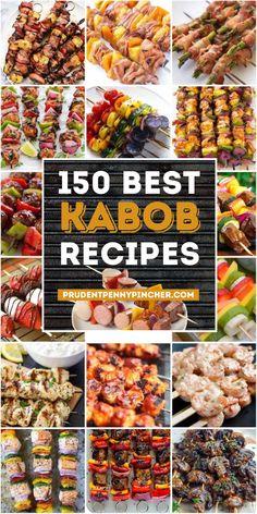 Healthy Grilling Recipes, Kabob Recipes, Appetizer Recipes, Cooking Recipes, Grill Recipes, Dinner Recipes, Healthy Food, Grilling Ideas, Kitchens
