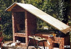 Od projektu, do wędzonek - czyli jak Wojtek Minor budował wędzarnię Smoke House Plans, Smoke House Diy, Outdoor Oven, Smokehouse, Grilling, Backyard, Construction, Cabin, Landscape