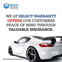 We at Select Warranty offers our customers peace of mind through valuable insurance products and ability to control the finance process by offering many types of products. To see your option contact us now or log on to www.selectwarranty.com.au