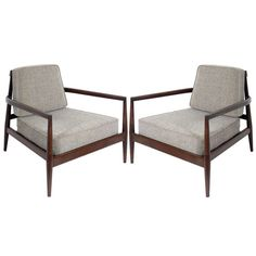 Pair of Rare Lounge Chairs by Edmund J. Spence 1