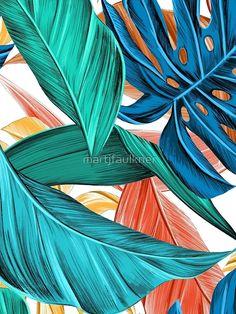 Orange Wallpaper, Tropical Wallpaper, Iphone Background Wallpaper, Teal Abstract Wallpaper, Art Background, Hd Wallpaper, Abstract Art, Tropical Art, Tropical Leaves