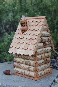 Peak House, wood and wine corks