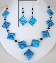 www.BestBuyBeads.com - Make striking statement jewelry with these beautiful new agate beads (available in several colors).