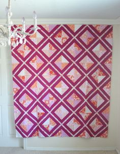 free lattice quilt pattern tutorial | VanillaJoy.com.  I haven't tried paper piecing yet, but this is gorgeous.