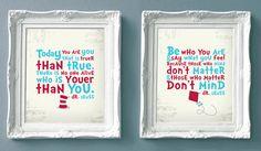 Dr Seuss Set of Prints for a Kids Room - Set of 2 Prints 5% Discount via Etsy