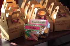 """Girl camping Birthday Party   As a party favor, I made """"Camp Ava Survival Kit""""s for all of the kids ..."""