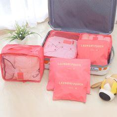 MIWIND 6PCS/Set Unisex High Quality Oxford Cloth Travel Mesh Bag Luggage Organizer Packing Cube Organiser Travel Bags THC816 #Affiliate
