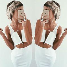 Bonny Dress - White.   #SaboSkirt  Make it that little bit more feminine with a boho hair style! @emilyrosehannon