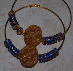 UCLA Bruins Basketball Wives Hoop Earrings by opalsandowls on Etsy, $25.00
