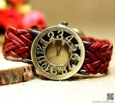Braided wrist watch