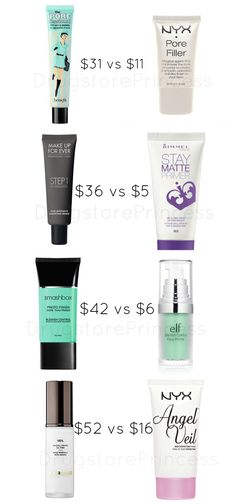 """drugstoreprincess: """"Face Primer Dupes for Your Skin! Not all face primers are created equal, but some have great, affordable dupes! Primer is a topic of conversation that I always see in my inbox,..."""