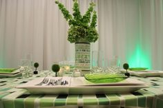 Green St. Patrick's Day table