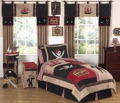 Amazon.com - Treasure Cove Pirate Childrens Bedding 4pc Twin Set by Sweet Jojo Designs