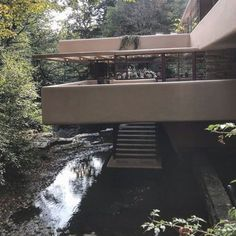 Obsessed with Frank Lloyd Wright Falling Water @visitfallingwater  a masterpiece combining nature & architecture. Truly living with the elements. #fatemehrecommends #architecturedesign #architecture #design #exterior #fallingwater #nature #outdoors  #fallingwater #pennsylvania #house #landscapedesign #trees #water