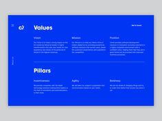 Cimet - Values & Pillars by Aleksandar Stojanović on Dribbble Ui Portfolio, Software Development, New Trends, Positivity, Marketing, Digital, New Fashion, Optimism