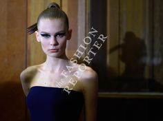 Alexandra Elizabeth at Atelier Versace Backstage | Haute Couture FW14-15 | Ph. Antonello Trio