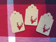 Die Cut Deer Head Buck Tag by NatureCuts on Etsy