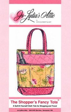 #FreeSewingPattern - The Shopper's Fancy Tote by Indie Designer Jo-Lydia's Attic - click the image to learn more and get the free instant download of the pattern
