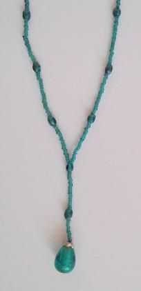 Beaded Necklace in Teal Color $4.00 #teamsellit