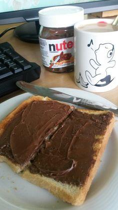 Nutella on toast... Best!!!