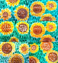 Plastic: Sunflowers.