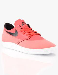 Nike SB Lunar Oneshot Skate Shoes - Lt Crimson/Black
