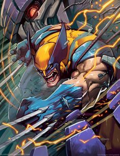 A lot of time out of my deviant account and focused in work and deadlines D:, but with severals new arts to share! To start, this fanart of my favorite version of Wolverine, This art w. Films Marvel, Hq Marvel, Marvel Comics Art, Marvel Heroes, Marvel Comic Character, Comic Book Characters, Comic Book Heroes, Marvel Characters, Comic Art