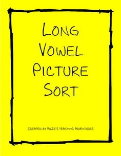 $2.00 --- Assess whether your students can differentiate their long vowels with this fun cut & paste activity - 3 sheets included!