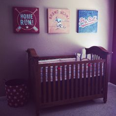 Baseball nursery! Vintage! Really loving the baseball theme!