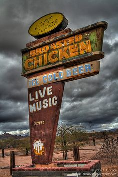Desolate Desert Sign by Robert D Bruce, via Flickr-this would be a great framed photo for the AZ house