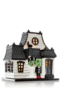 Haunted House Luminary Mini Drop In Candleholder by Bath & Body Works Halloween Queen, Halloween Items, Halloween Pictures, Holidays Halloween, Happy Halloween, Halloween Halloween, Halloween Candles, Halloween Decorations, Harvest Decorations