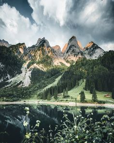 "4,813 Likes, 204 Comments - Manuel Dietrich (@manueldietrichphotography) on Instagram: """"Light and Shadow"" - Lake Gosau, Austria ⛰ After a massive rain shower we walked up to this lake…"""