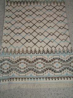 Natural Swedish Weaving Blanket - Precious Gem