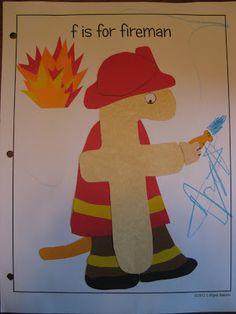 f is for fireman {free printable} Lilliput Station