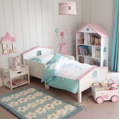 My Girl - 'Dotty Dolls House' Toddler Bed from http://www.gltc.co.uk/fcp/product/-/bedroom_furniture_showall/'Dotty-Dolls-House'-Toddler-Bed/10000002915  Great site for Hollys room