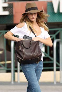 Rosie Huntington-Whiteley with the LV Sofia Coppola bag