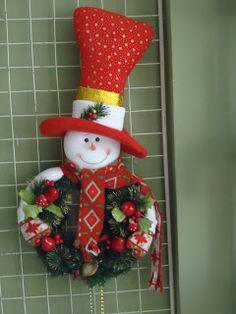 Christmas Sewing, Felt Christmas, Christmas Snowman, Christmas Projects, Handmade Christmas, Christmas Wreaths, Christmas Ornaments, Snowman Crafts, Felt Crafts