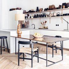 "meandmybentley: ""Parisian apartment of Interior designer duo and founders of @maison_hand_fr, Pierre Emmanuel Martin and Stéphane Garotin. #meandmybentley """
