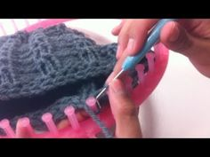 Round Loom Knitted Scarf - YouTube