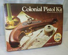 CVA KA704-Colonial PISTOL KIT .45 CAL. 440 Round Ball Percussion New Sealed NIB Listed on eBay @ $0.98