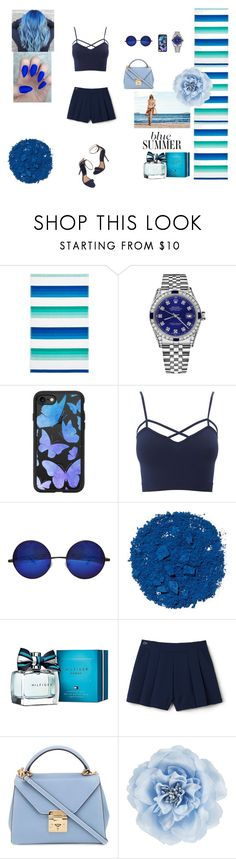 """""""BLUE SUMMER <3"""" by lejla-becirovic on Polyvore featuring Sky, Rolex, Casetify, Charlotte Russe, Illamasqua, Tommy Hilfiger, Lacoste L!VE, Mark Cross, Monsoon and men's fashion"""