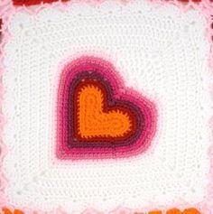 Rainbow Heart Square – Free Crochet Pattern