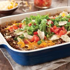 Christy Jordan's Taco Casserole Recipe - Taste of the South Magazine (revise for my allergies)