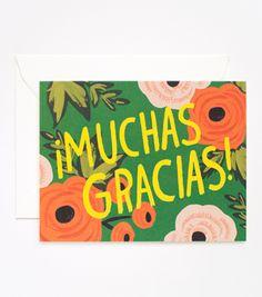 ¡Muchas Gracias! Card