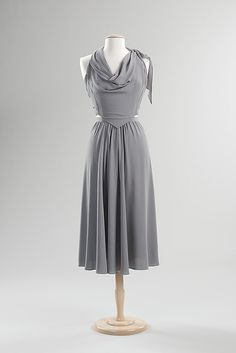 Cocktail Dress 1938, American, Made of silk