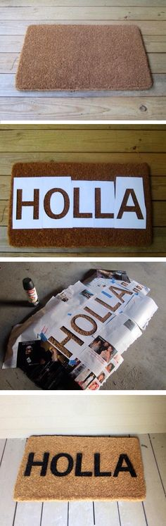Nothing welcomes your guests like a DIY doormat. @homechichouse