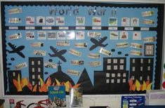 world war 2 displays Classroom Displays Ks2, Teaching Displays, Class Displays, School Displays, Library Displays, World History Classroom, Ap World History, Nasa History, World War 2 Display