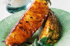 Ananas rôti à la Plancha au rhum et à la cannelle - Recettes Ducros