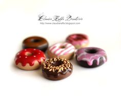 Polymer clay mini donuts