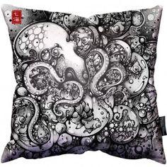 A Curious Embrace Pillow by artist Nanami Cowdroy